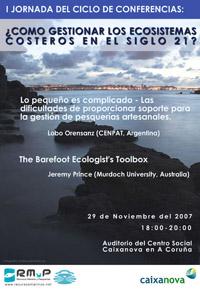 I Jornada del Ciclo de Conferencias: ¿Cómo Gestionar Los Ecosistemas Costeros en el s. XXI?